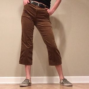 Corduroy crop flare pants